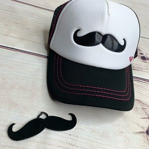 ROXY SnapBack Trucker Cap with Removable Mustache